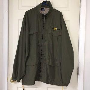 Phat Farm army green nylon lined light jacket